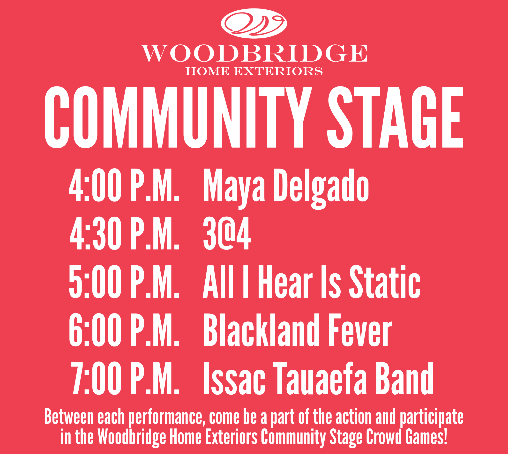 Woodbridge Home Exteriors Community Stage | Allen Special Events, TX